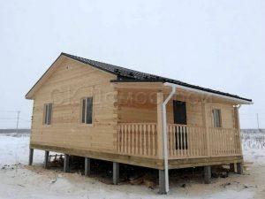 Дом из бруса 7,5х9 КП Окунево