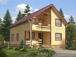 Дом из бруса «Орск»