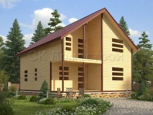 Дом «Агафон» 8х10 м