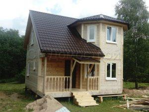 Дом из бруса 7х7 деревня Литвиново