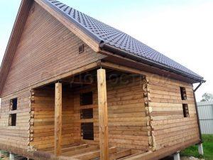 Сруб бани 6х8 деревня Бойтово