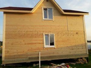 Баня из бруса 6х8 деревня Теряево