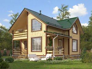 Дом из бруса «Воткинск»