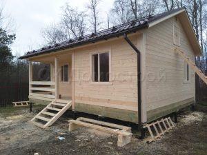 Дом из бруса 6х8 деревня Плишкино