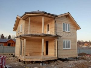 Дом из бруса 8х8 деревня Мишутино