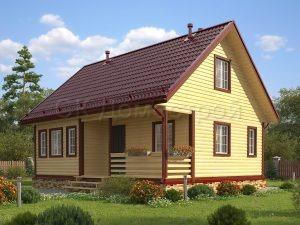 Дом из бруса «Уральск»