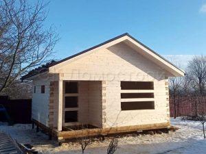 Сруб бани 6х6 деревня Колосово