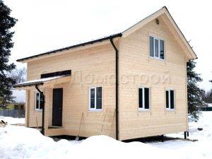 Каркасный дом 6х8 ДНП Лесные узоры