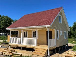 Каркасный дом 8х8 поселок Северная Миля